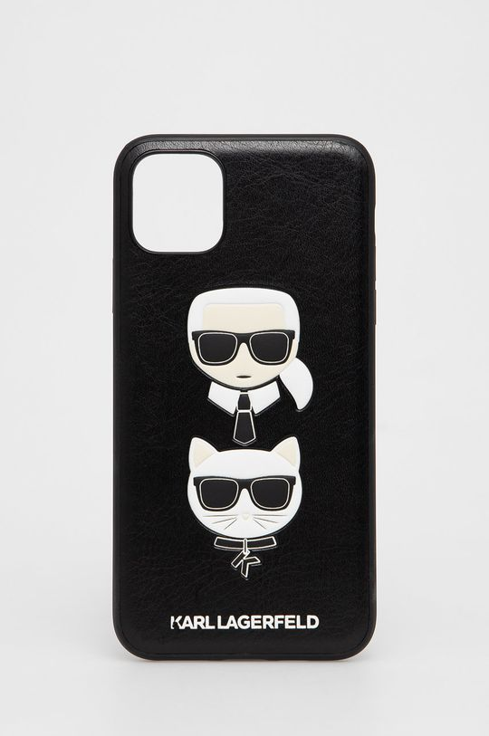 czarny Karl Lagerfeld - Etui na telefon iPhone 11 Pro Max Unisex