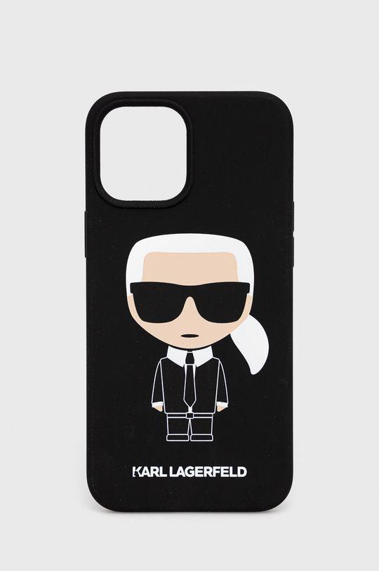 czarny Karl Lagerfeld - Etui na telefon iPhone 12-Pro Max Unisex