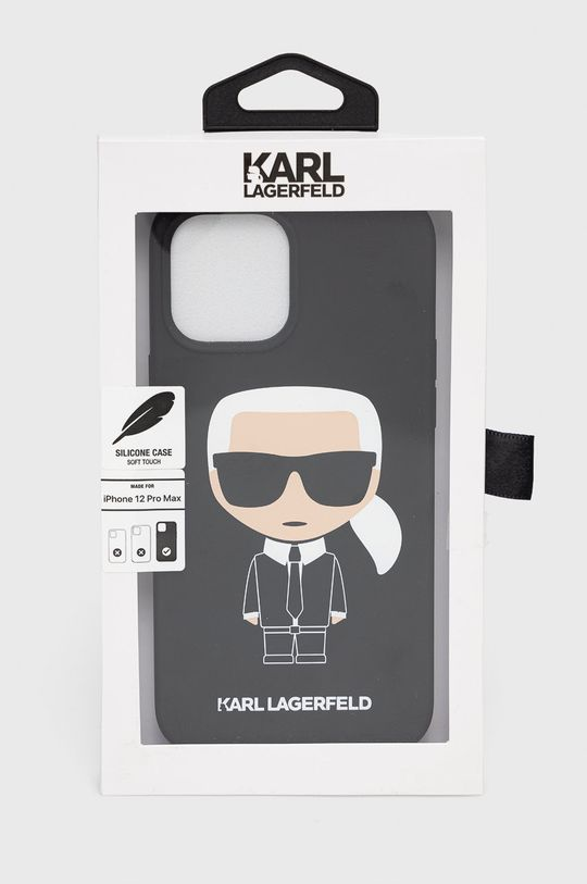 Karl Lagerfeld - Etui na telefon iPhone 12-Pro Max Materiał syntetyczny