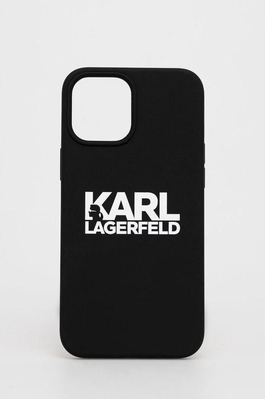 czarny Karl Lagerfeld - Etui na telefon iPhone 12 Pro Max Unisex