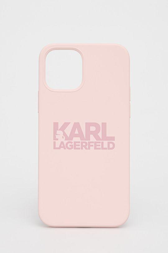 różowy Karl Lagerfeld - Etui na telefon iPhone 12/12 Pro Unisex