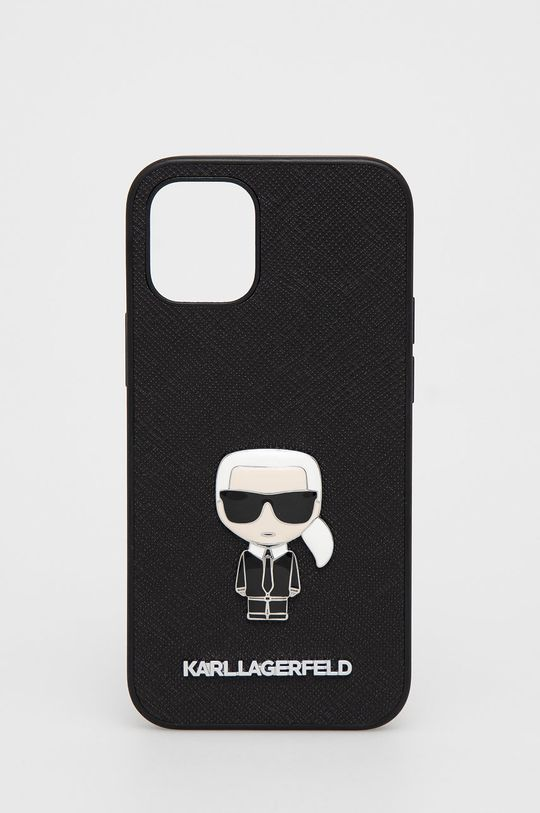 czarny Karl Lagerfeld - Etui na telefon iPhone 12 mini Unisex