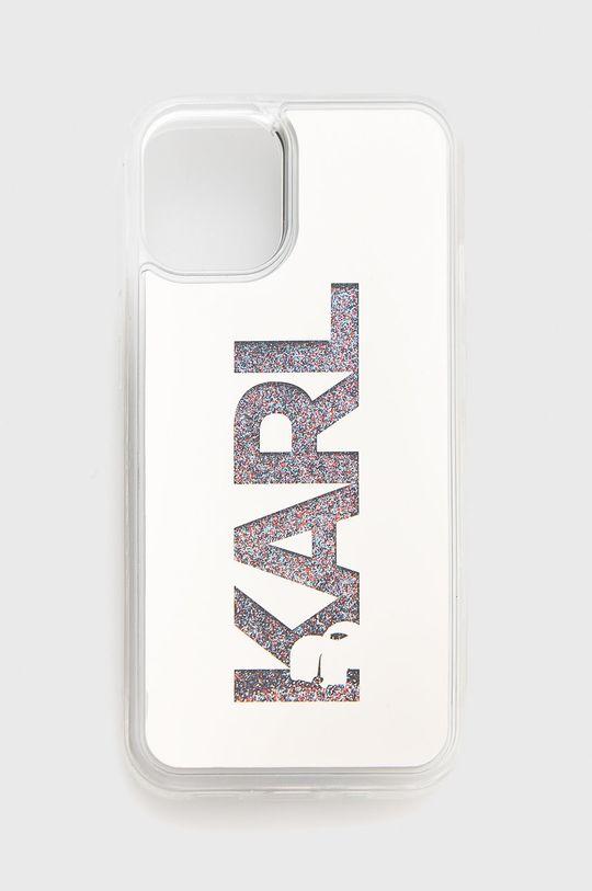 srebrny Karl Lagerfeld - Etui na telefon iPhone 12 mini Unisex
