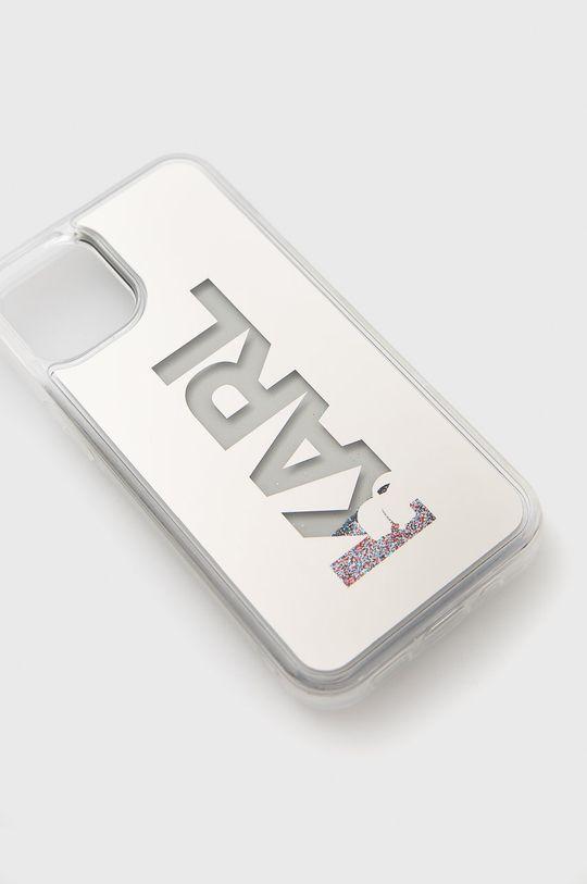 Karl Lagerfeld - Etui na telefon iPhone 12 mini srebrny