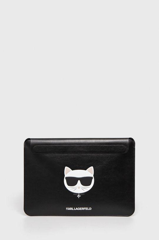 czarny Karl Lagerfeld - Pokrowiec na laptopa Macbook 13 cali Unisex