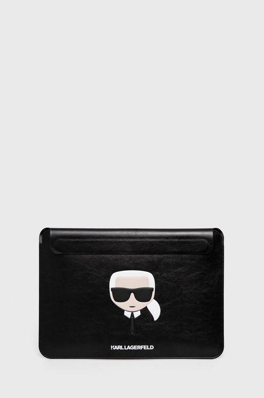 czarny Karl Lagerfeld - Pokrowiec na laptopa Mackbook 13 cali Unisex
