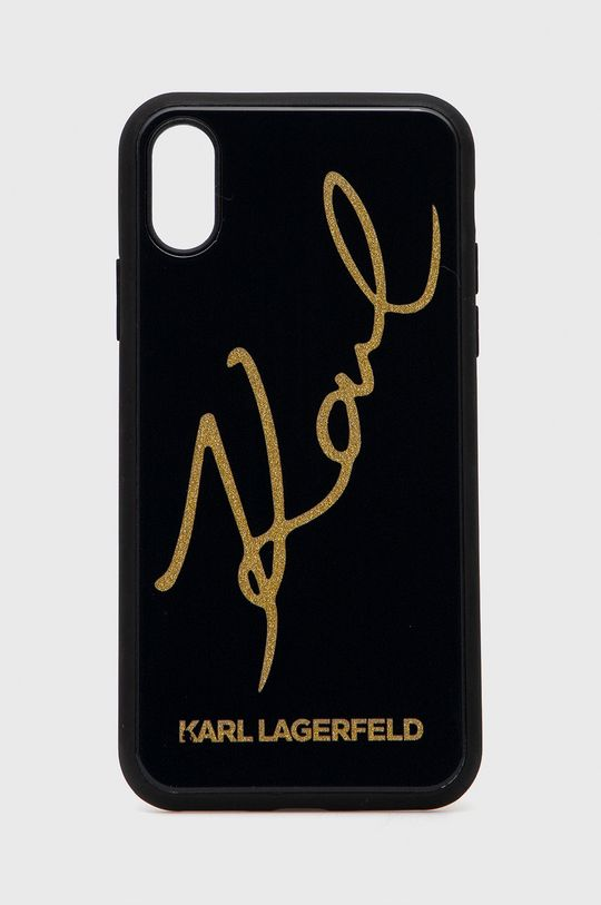 czarny Karl Lagerfeld - Etui na telefon iPhone X/Xs Unisex