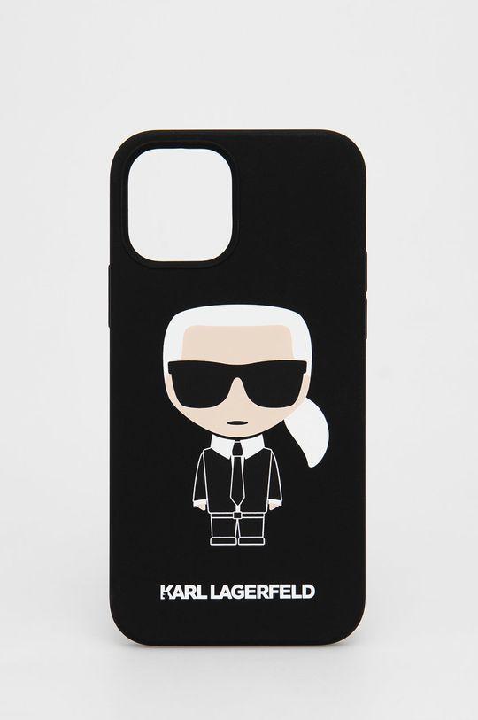 czarny Karl Lagerfeld - Etui na telefon iPhone 12/12 Pro Unisex
