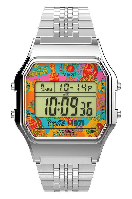 srebrny Timex - Zegarek TW2V25900 Unisex