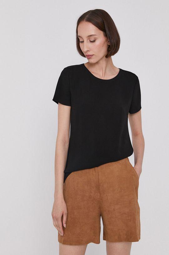 czarny Boss - T-shirt Damski