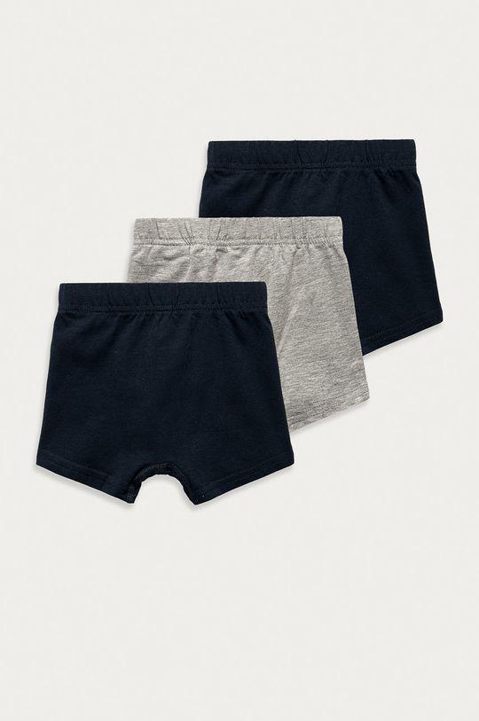 Name it - Dětské boxerky (3-pack) šedá
