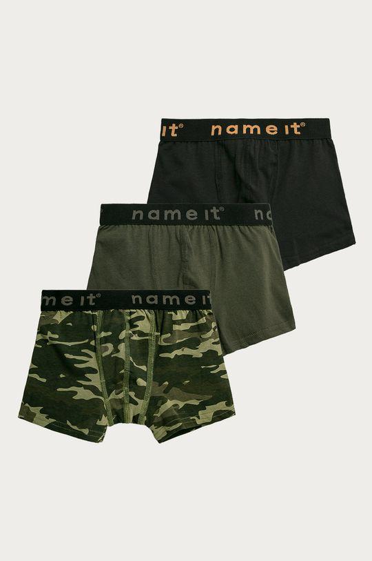 tlumená zelená Name it - Dětské boxerky (3-pack) Chlapecký