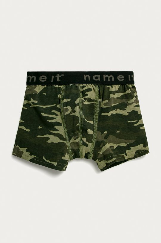 Name it - Dětské boxerky (3-pack) tlumená zelená