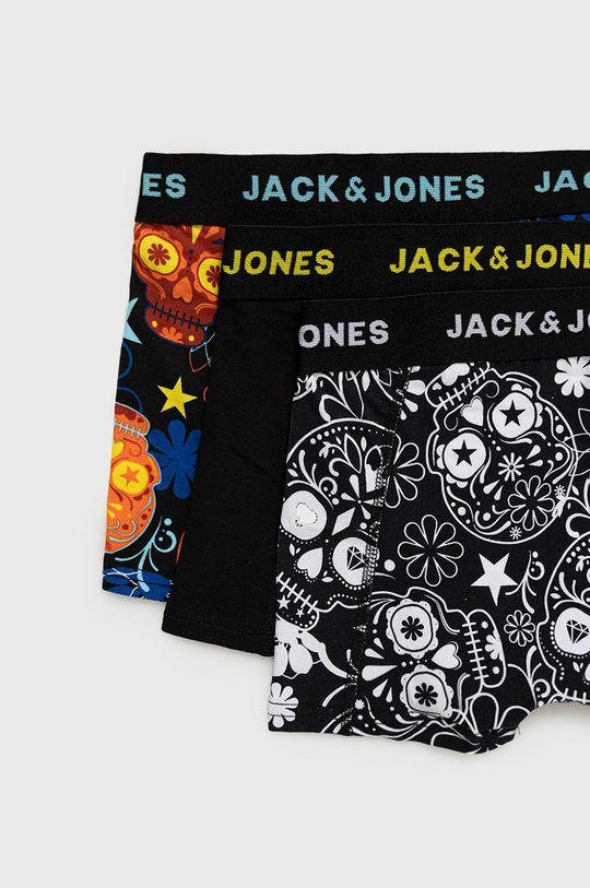 Jack & Jones - Dětské boxerky (3-pack) černá