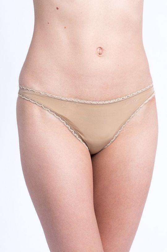 béžová Calvin Klein Underwear - Tanga Dámský