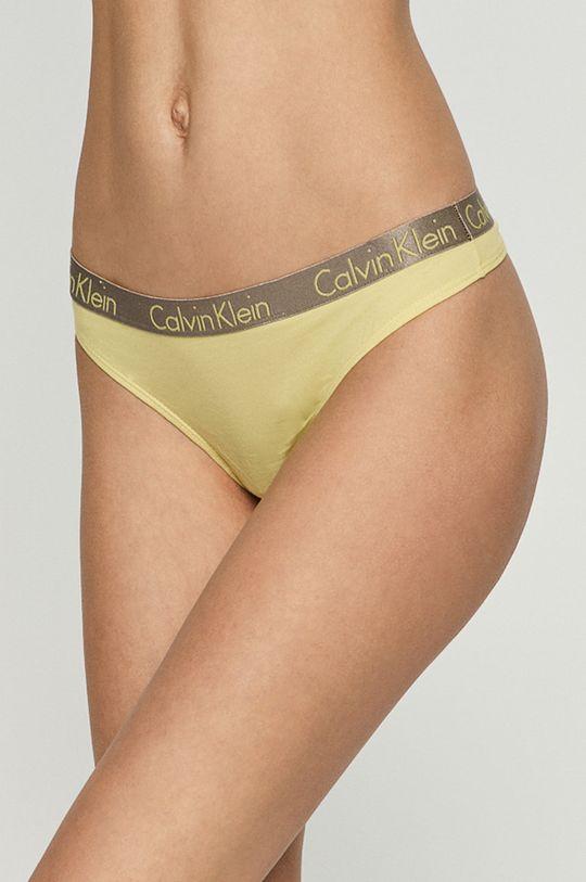 jasně žlutá Calvin Klein Underwear - Tanga Dámský