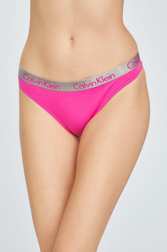 orchidejová Calvin Klein Underwear - tanga Thong Dámský