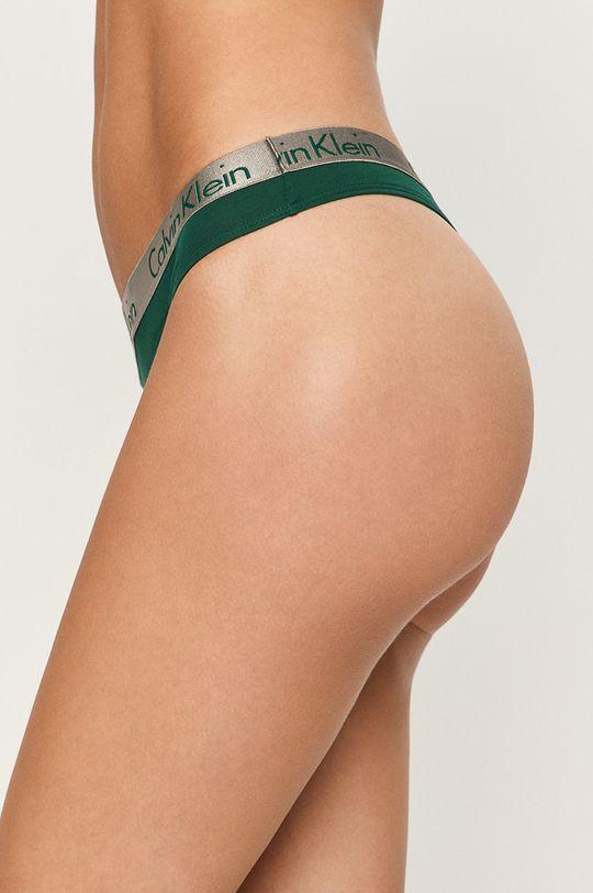 Calvin Klein Underwear - tanga Thong tmavě zelená