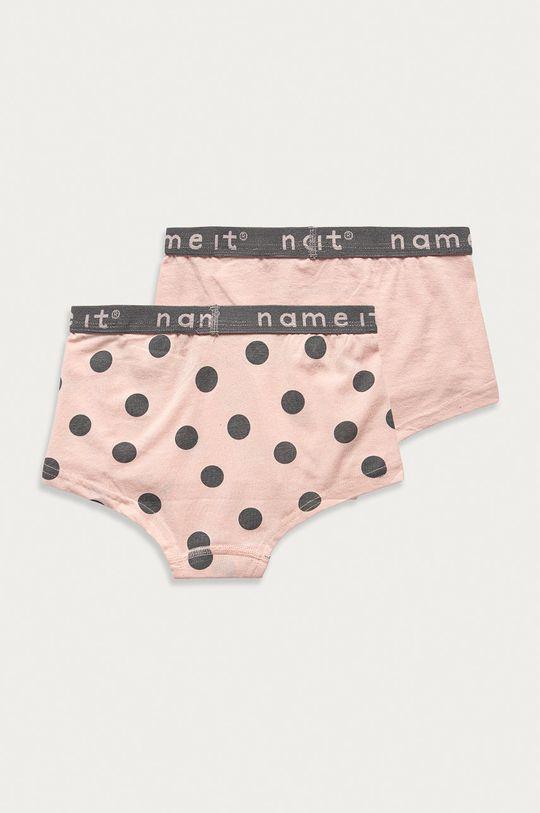 Name it - Dětské kalhotky (2-pack) pastelově růžová