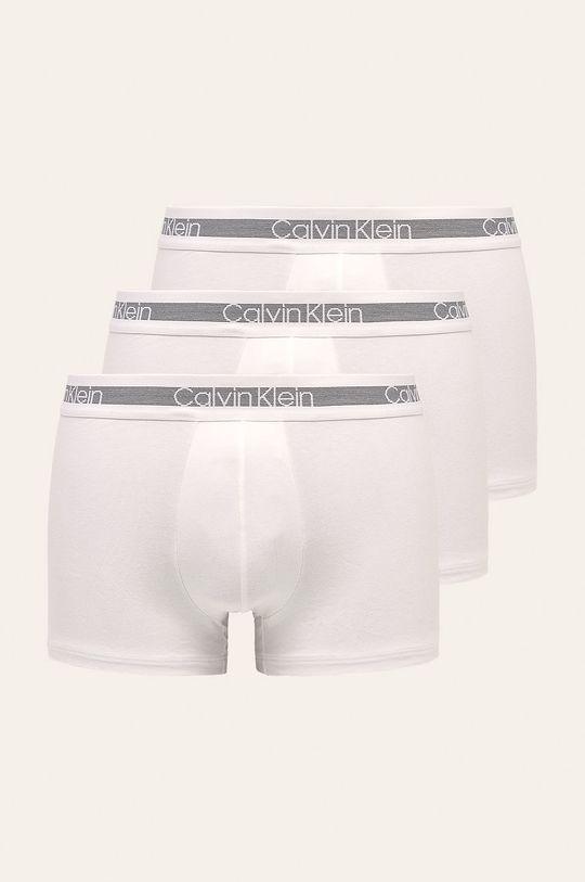 alb Calvin Klein Underwear - Boxeri (3 pack) De bărbați