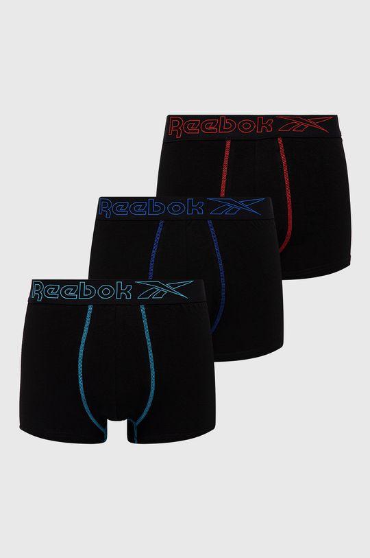czarny Reebok - Bokserki (3-pack) Męski