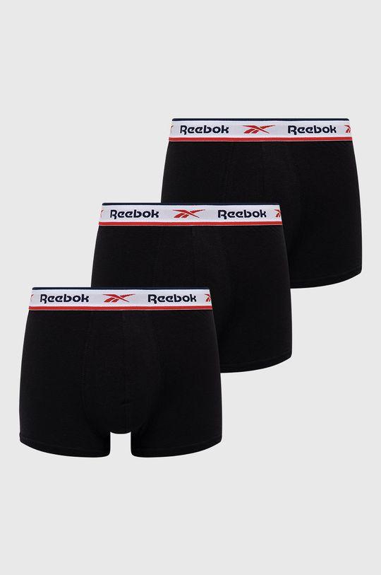 černá Reebok - Boxerky (3-pack) Pánský