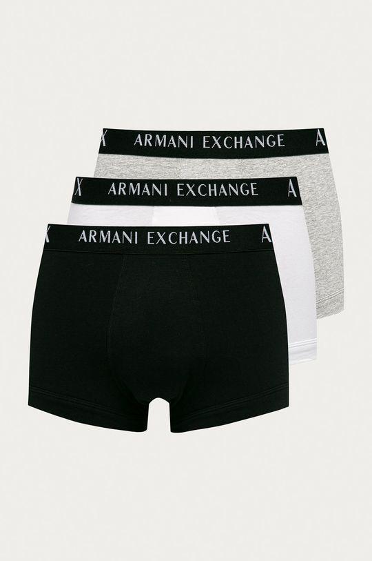 szary Armani Exchange - Bokserki (3-pack) Męski