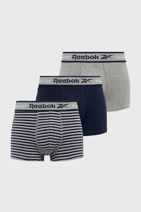 námořnická modř Reebok - Boxerky (3-pack) Pánský