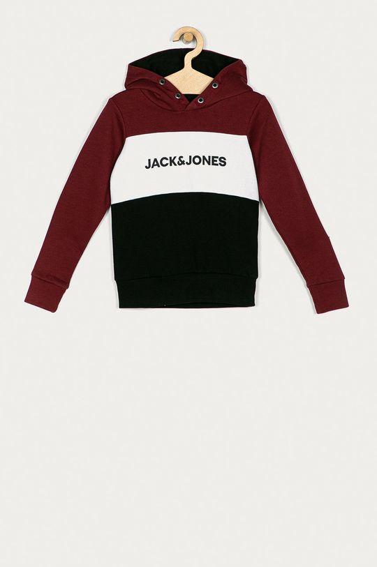 mahoniowy Jack & Jones - Bluza dziecięca Chłopięcy