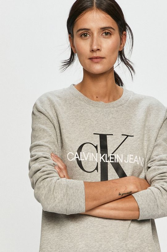 světle šedá Calvin Klein Jeans - Mikina