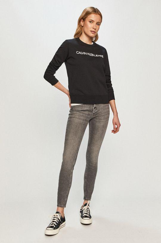 Calvin Klein Jeans - Mikina světle šedá