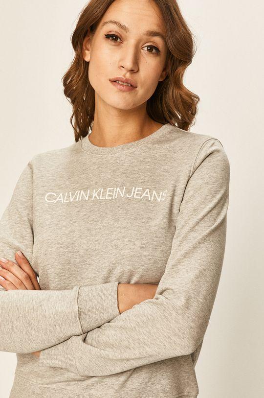 grafitová Calvin Klein Jeans - Mikina