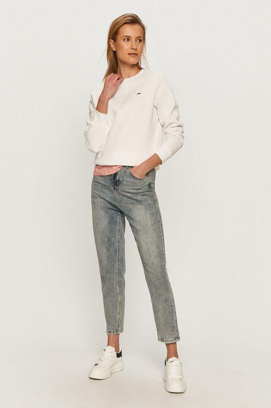 Tommy Jeans - Mikina biela