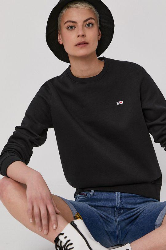čierna Tommy Jeans - Mikina Dámsky