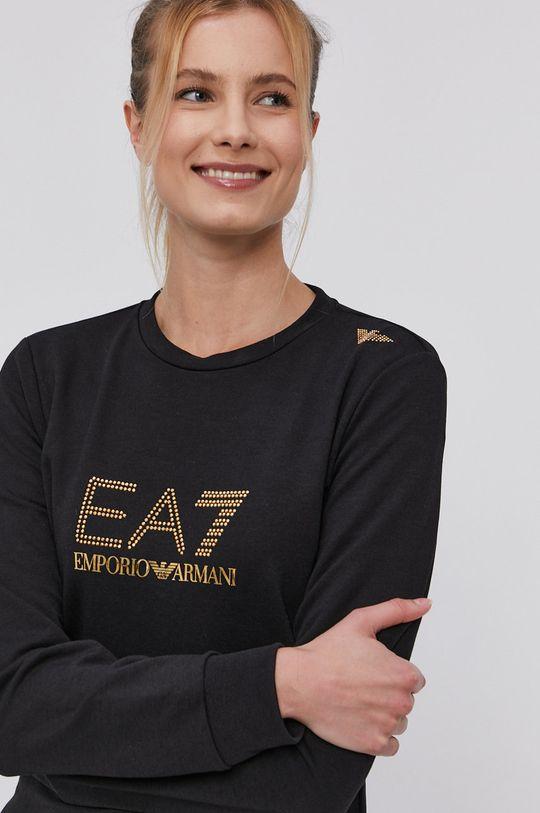 čierna EA7 Emporio Armani - Mikina Dámsky