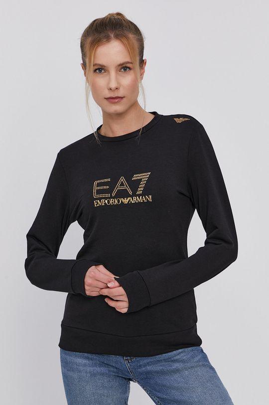čierna EA7 Emporio Armani - Mikina