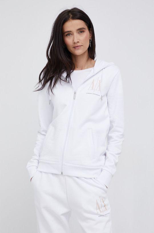 biały Armani Exchange - Bluza bawełniana Damski