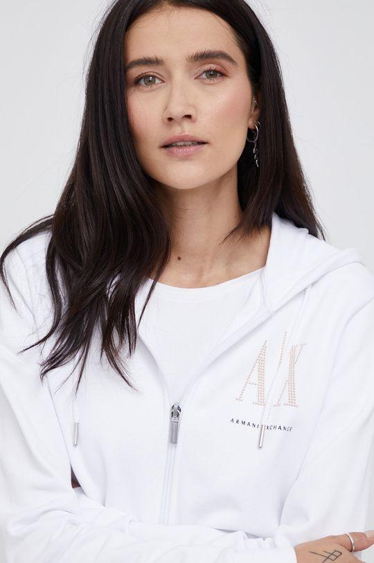 biały Armani Exchange - Bluza bawełniana