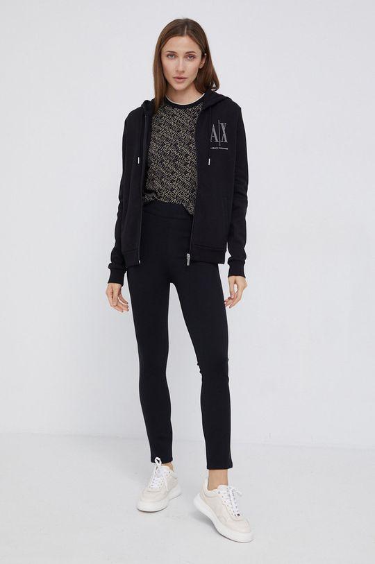 Armani Exchange - Bluza bawełniana czarny