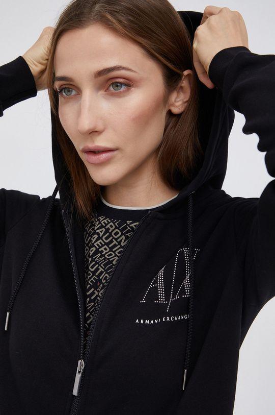 czarny Armani Exchange - Bluza bawełniana