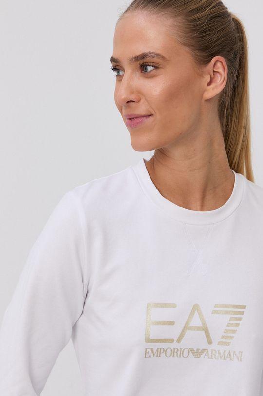 biały EA7 Emporio Armani - Bluza