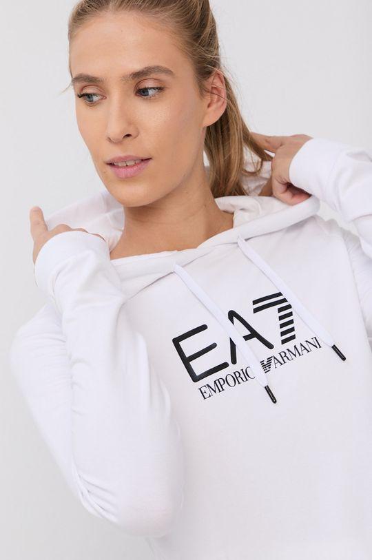 biały EA7 Emporio Armani - Bluza Damski