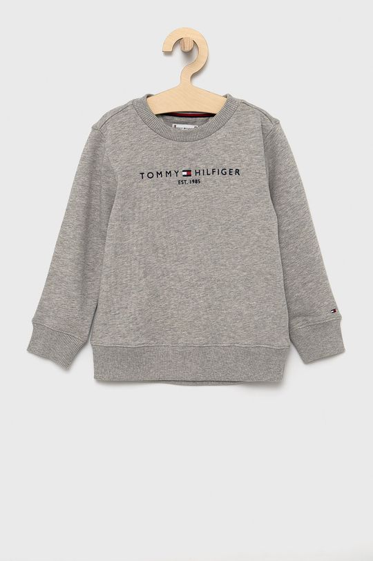 jasny szary Tommy Hilfiger - Bluza bawełniana dziecięca Dziecięcy