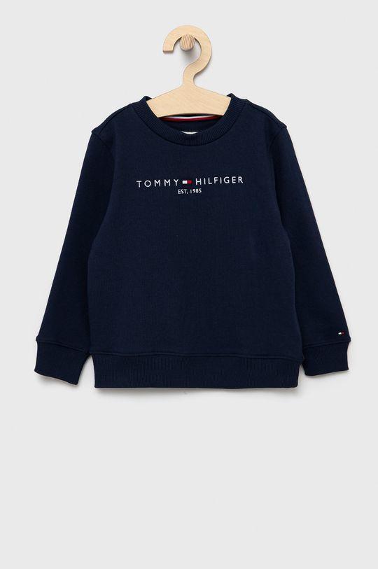 námořnická modř Tommy Hilfiger - Dětská bavlněná mikina Dětský
