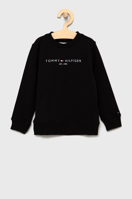 czarny Tommy Hilfiger - Bluza bawełniana dziecięca Dziecięcy