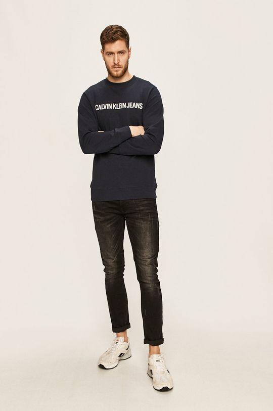 Calvin Klein Jeans - Mikina tmavomodrá