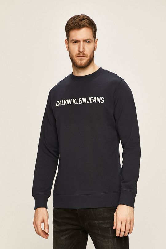 tmavomodrá Calvin Klein Jeans - Mikina