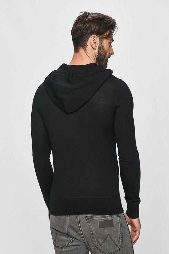 AllSaints - Bluza Mode Merino Zip Hood 100 % Wełna merynosów