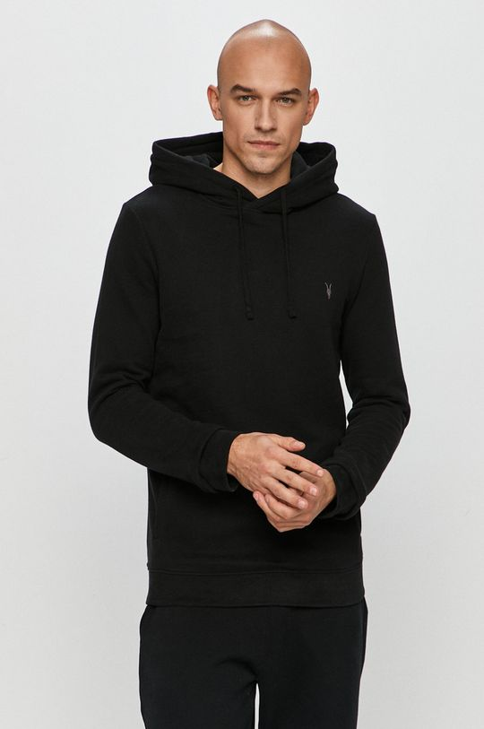 negru AllSaints - Bluza Raven OTH Hoody De bărbați
