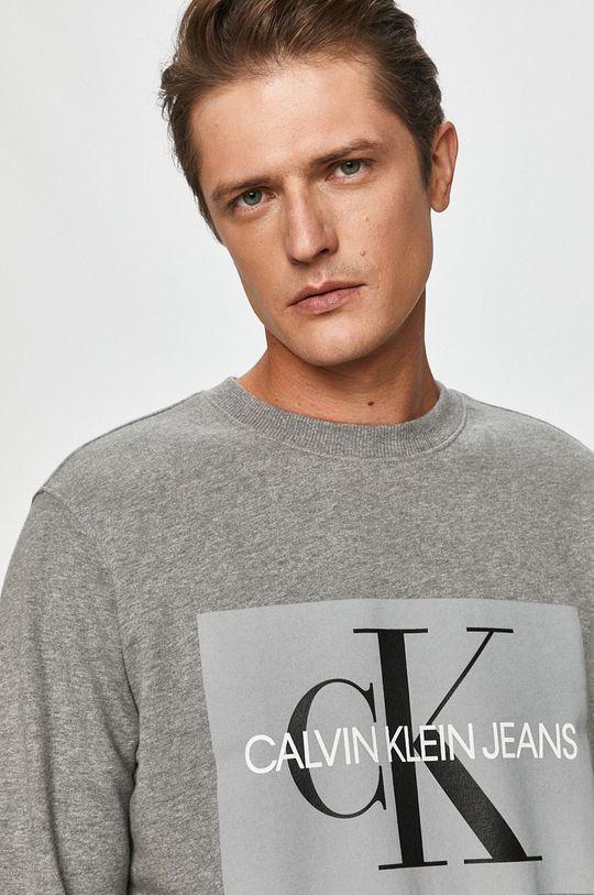 sivá Calvin Klein Jeans - Bavlnená mikina